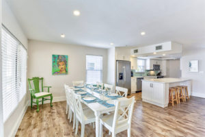 Dining Room and Kitchen Citrus Kiss Estero Island Beachside Rentals